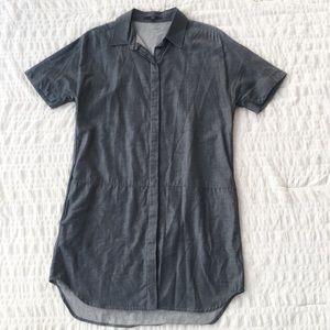 Tibi Button Down Denim Chambray Shirt Dress 4